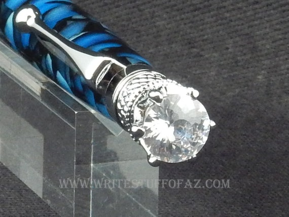 Blue Crush Twist Pen, Adorned with Swarovski Crystal