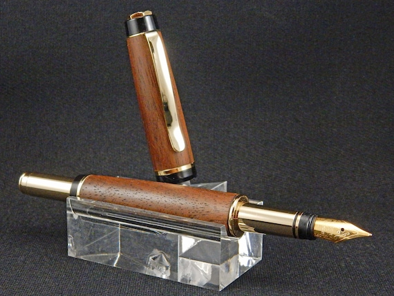 Classic Rollerball or Fountain Pen, English Walnut