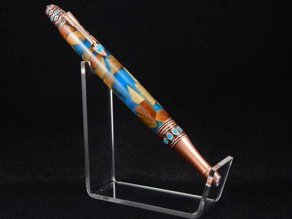 ONE OF A KIND! - Handmade Pen made of Waste Wood, Infused with Resin