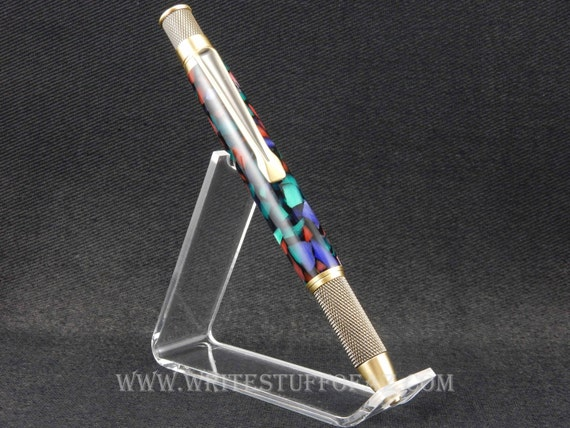 Retro Twist Pen, Purple Red & Green Resin, Parker Refill