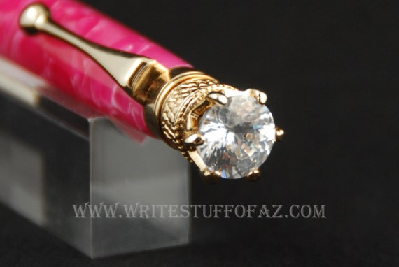 Hot Pink Crush Twist Pen, Adorned with Swarovski Crystal