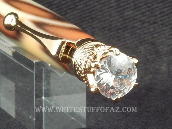 Leopard Skin Print Twist Pen, Adorned with Swarovski Crystal