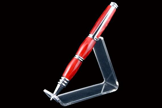 Ruby Red Twist Pen, Segmented