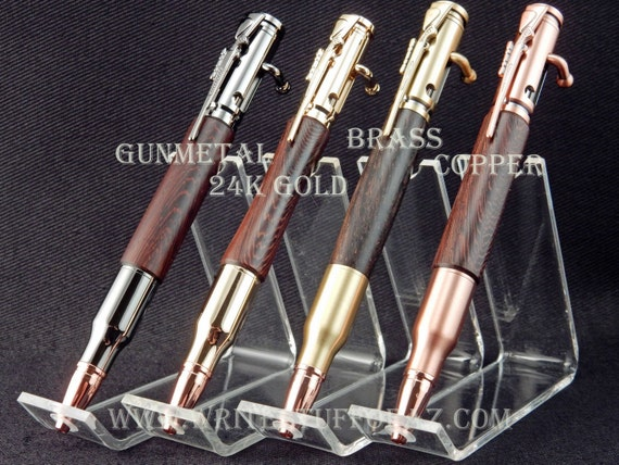 30 Caliber (.308) Bolt Action Pen in Burmese Blackwood