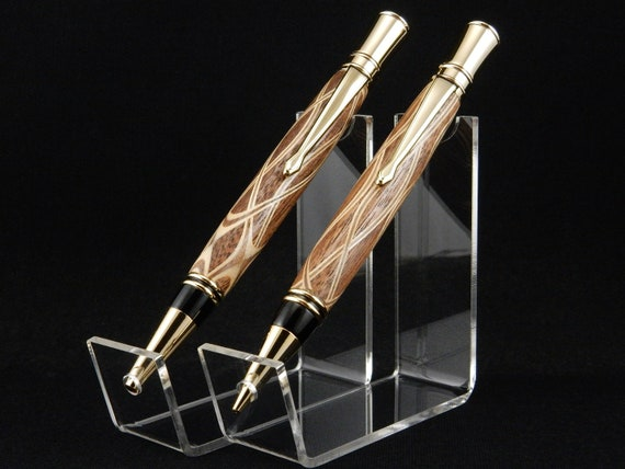 Parker Duofold Inspired Pen and/or Pencil Set in Walnut Laminate