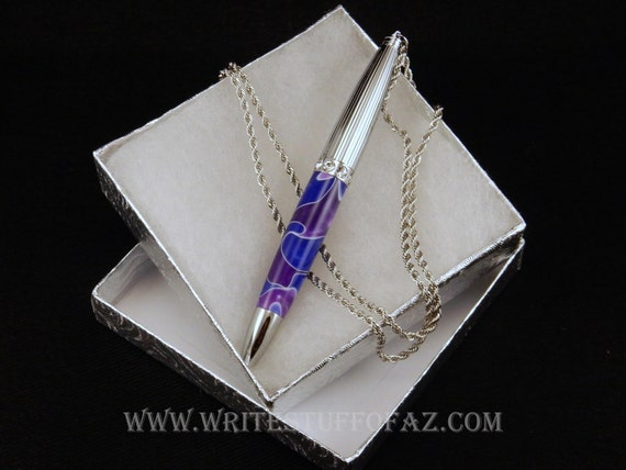 Pen Necklace in Purple & Lavender