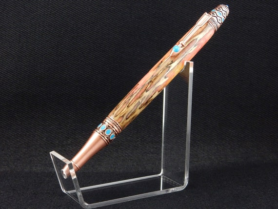 FREE DOMESTIC SHIPPING! - Handmade Arizona Cholla Skeleton Pen, Infused with Resin