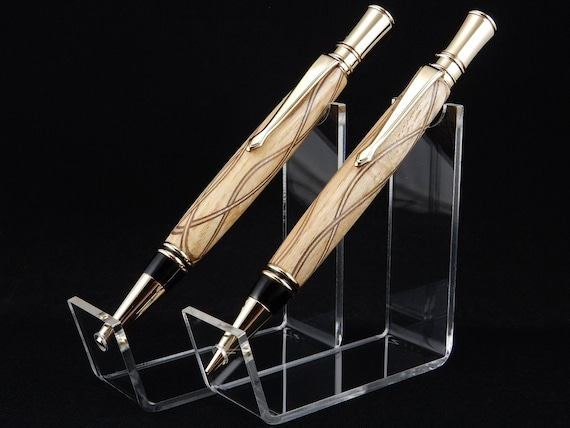 Parker Duofold Inspired Pen and/or Pencil Set in Maple Laminate