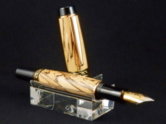 Olympian Elite Rollerball Pen or Fountain Pen in Spalted Maple