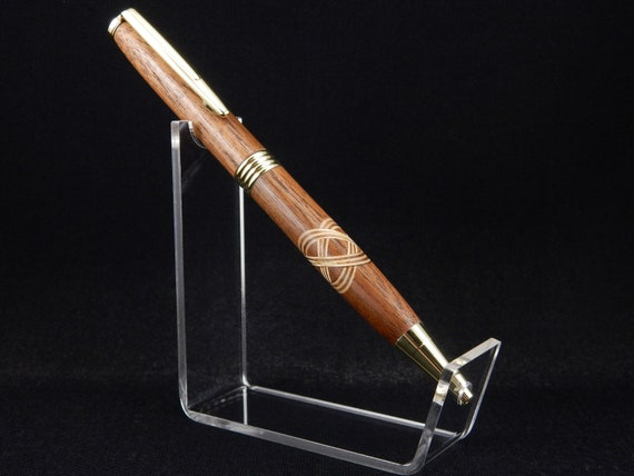 Trimline Pen with Celtic Knot Inlay, 24k Gold Trim