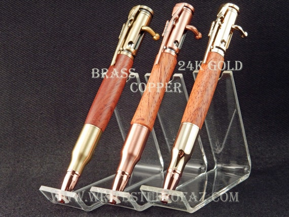 30 Caliber (.308) Bolt Action Pen in Burmese Rosewood