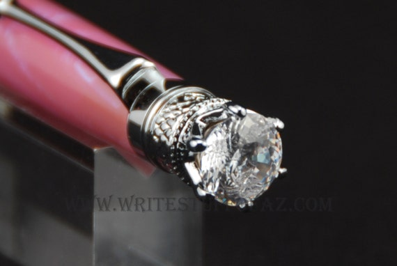 Pink Sky Twist Pen, Adorned with Swarovski Crystal