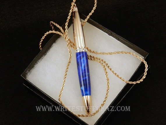 Pen Necklace in Royal Blue