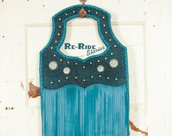 Fringe Handbag- Dark Turquoise