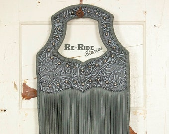 Fringe Handbag- Gray