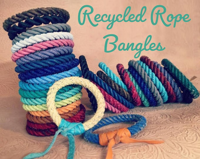 Featured listing image: Recycled Rope Bangles