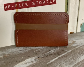 Cardholder genuine leather - brown