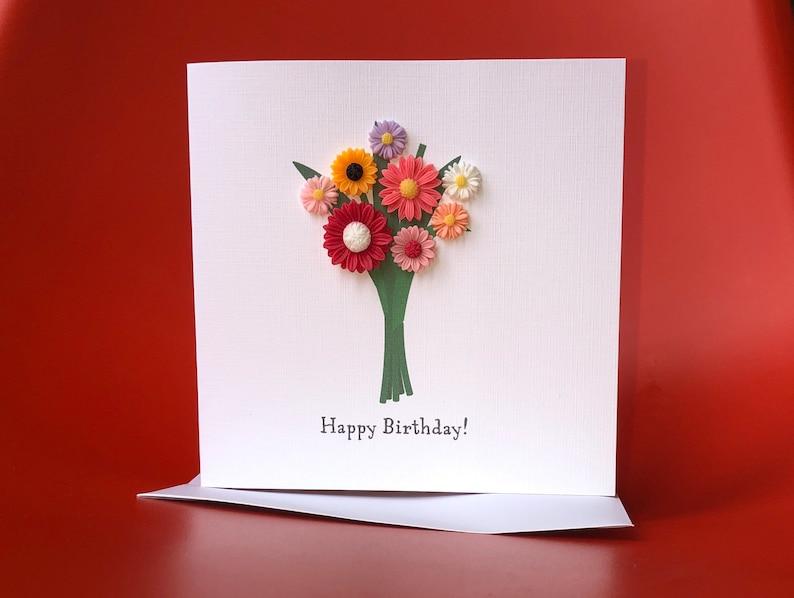 Handmade birthday OR anniversary OR Congratulations card image 1