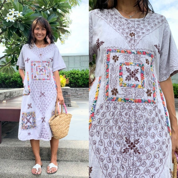 Vintage Indian Embroidered Dress/Hippie Indian Dre