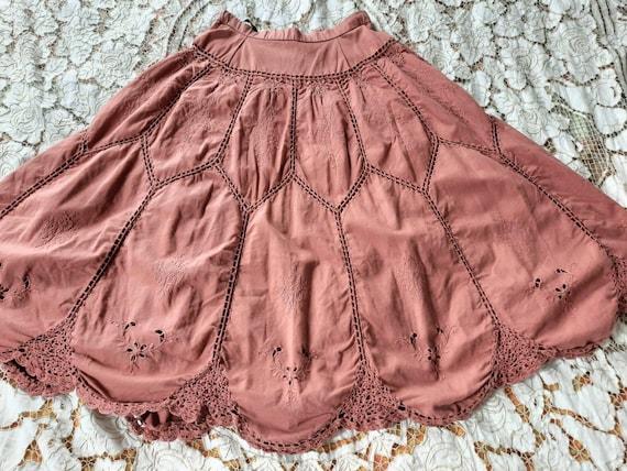 Vintage Patchwork Skirt,Bohemian Crochet Skirt,Hip