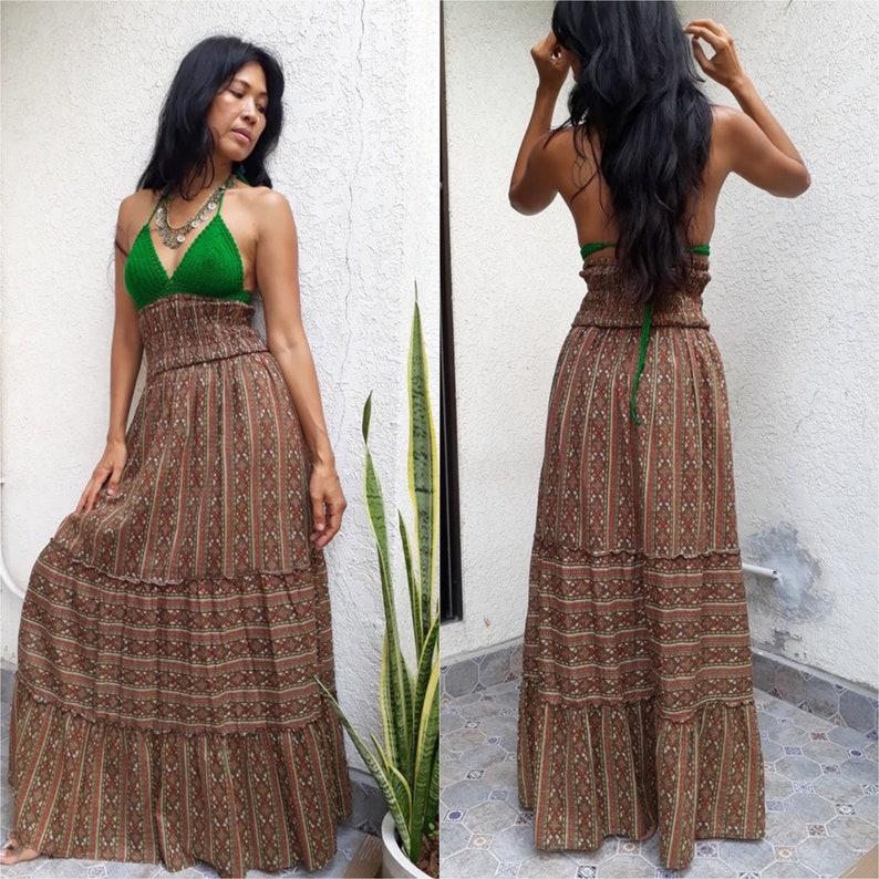 624eb39083fe Handmade Vintage Dress with Bikini Crochet/Bohemian Tribal | Etsy