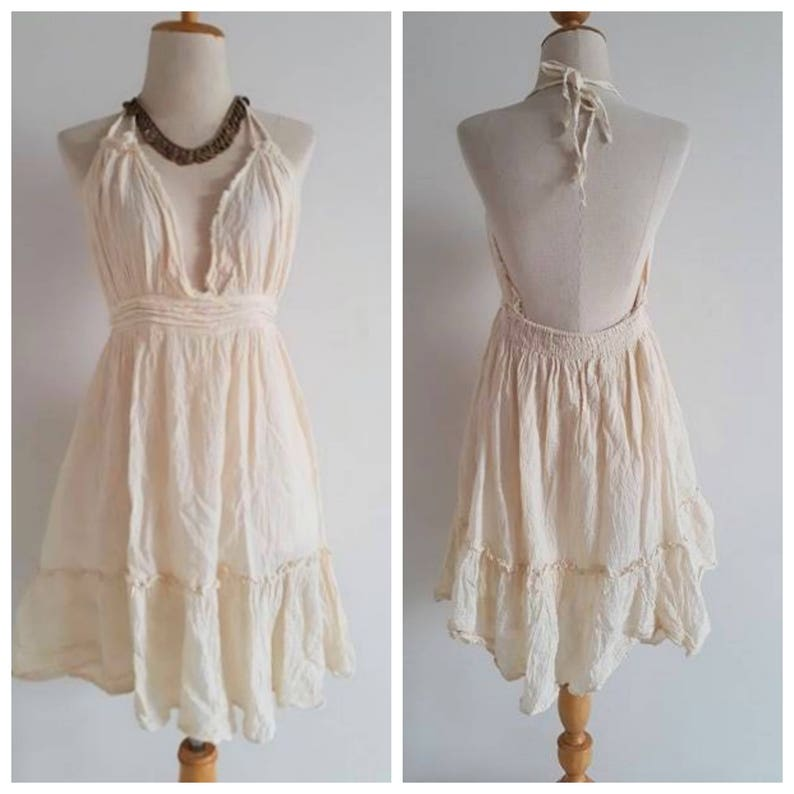 6b69d8ab3b19 Sexy Cute Boho Beach Dress. Off White Short Sun Dress. Perfect | Etsy