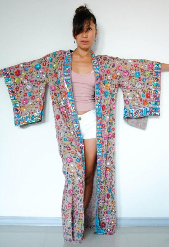 Handgefertigte damen indian boho kimono mantel jacke - Kimono jacke damen ...
