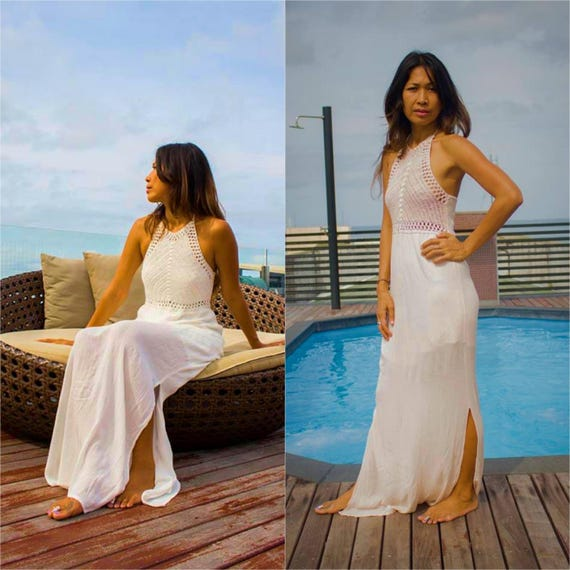 9eac4e173795 Crochet Maxi Dress/ Boho Maxi Dress/Sundress /Bohemian maxi | Etsy