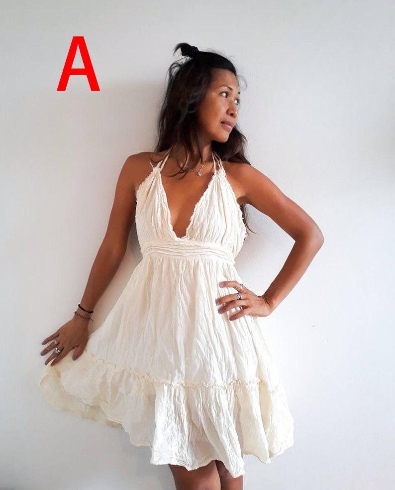 390954b236 Sexy Cute Boho Beach Dress. Off White Short Sun Dress. Perfect   Etsy