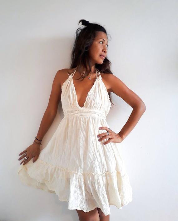 Sexy white beach dress
