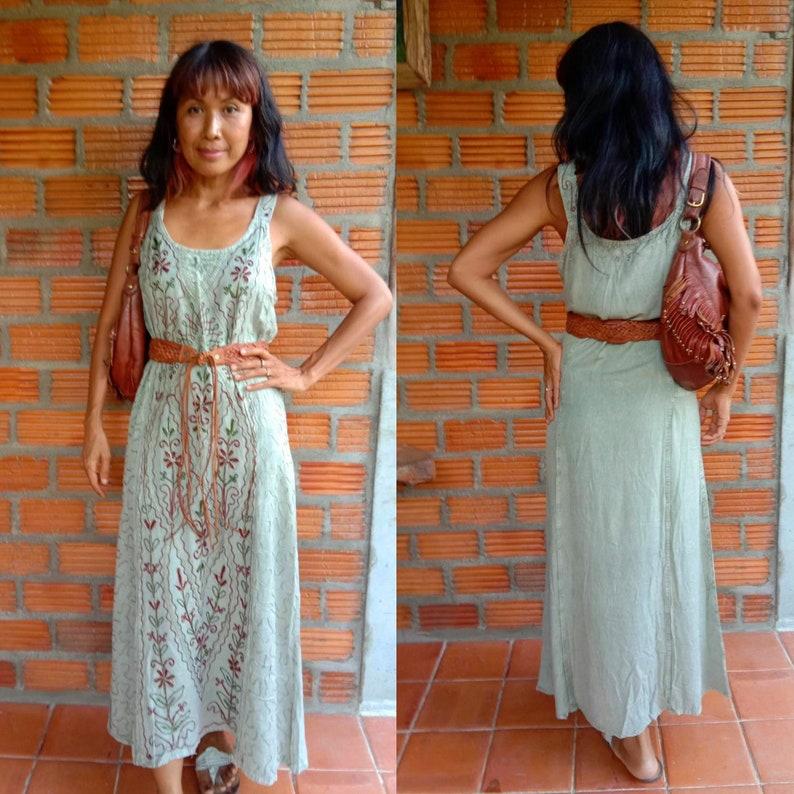 a1b9332a6949 Handmade Indian Maxi Dress/Bohemian Embroidery Maxi | Etsy