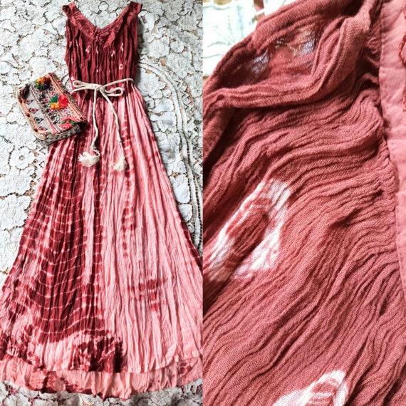 Vintage Indian Rayon  Maxi Dress,Bohemian Indian B