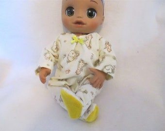 3dc8fbc2fdc21f Baby Alive as Real as Can Be Fleece or Flannel Footed Sleeper U-Pick