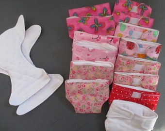 "Doll Diaper 14-17"" baby dolls Double Quilted Layer Lining U-PIC Cute Patterns Bitty Baby Alive Berenguar"