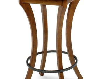 1105 Pub Table In Cherry, Golden Finish, Severe Antique Distressing