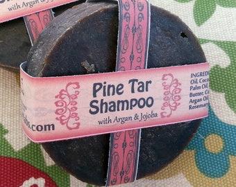 Pine Tar Shampoo Bar | For Flakey Scalp and Itchy Head | Eczema Shampoo| Dandruff | Dry Scalp | Vegan