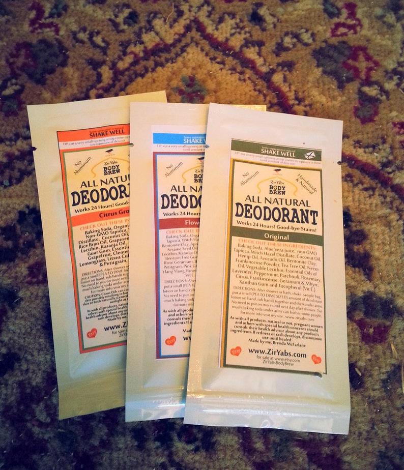 FREE Natural Deodorant Samples | Pack of Three