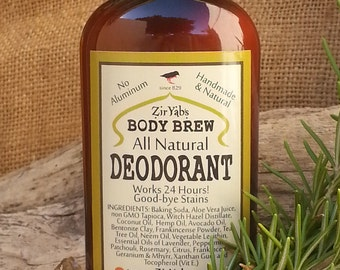 Amazing 24 Hour Natural Deodorant | Original | 6 oz | Frankincense and Myrrh | works 24 hours | Aluminum Antiperspirant Free