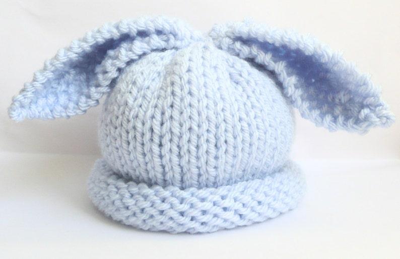 2165c2b8832 Newborn baby boy bunny rabbit hat ear hat pale pastel baby