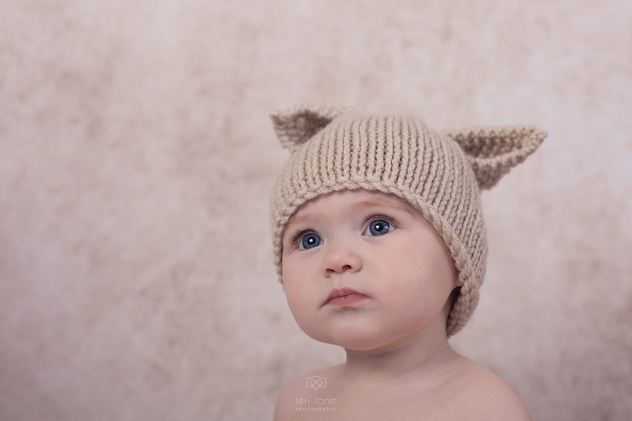 aa0117f8d17 Knitted baby hat Easter bunny hat rabbit linen boy girl PICK