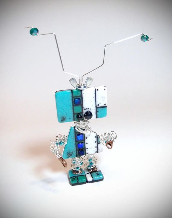Robot Invasion Fused Glass Mixed Media Video Class Etsy