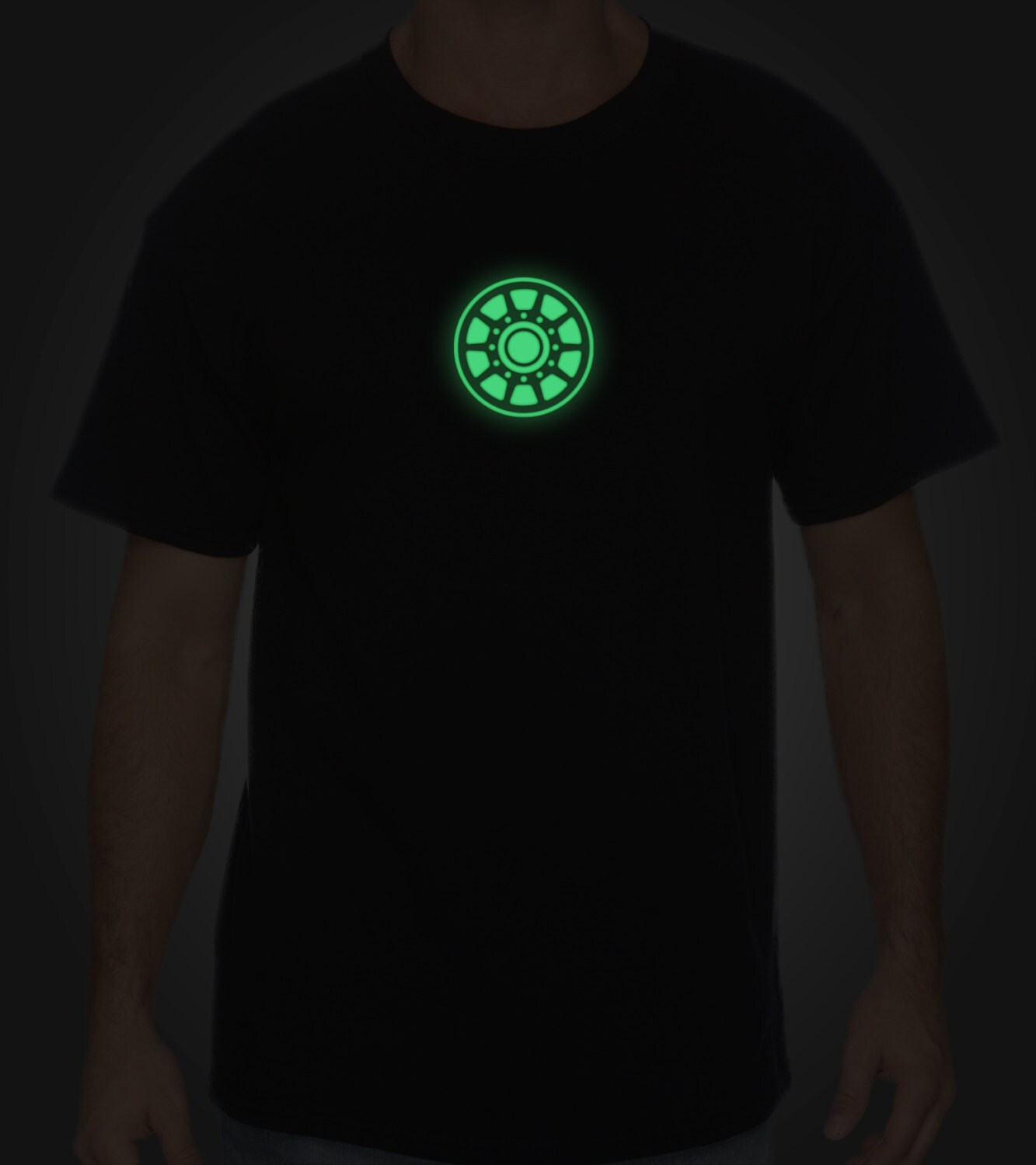 a0a772dee Iron Man Arc Reactor Glow In The Dark T Shirt – EDGE Engineering and ...