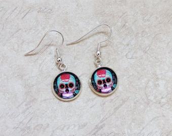 Sugar Skull earrings Day of the dead Halloween