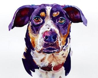 Custom Pet Portrait, Pet Portrait, Custom Painting, Watercolor Painting, Gift Art, Dog Portrait