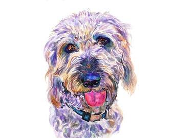 Custom Pet Portrait, Painting, Watercolor, Pet Portrait, Original Painting, 11x14inches,  Watercolor Painting - Gift Art - Dog Portrait