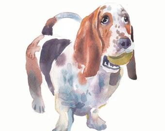 6efb7f0148c Custom Portrait - Custom Pet Portrait - Animal Art - 10x8in - Watercolor  Painting - Gift - Dogs