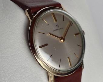 Lovely slim1960s Hamilton mens vintage Swiss manual wind watch in great working order