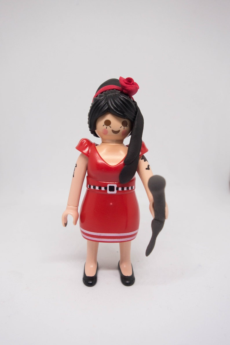 FigureEtsy Custom Playmobil Figura Amy Winehouse 7IfgyvbY6