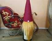 Christmas Gnome Wine Bottle Topper Hostess Gift Housewarming Gift Coworker Gift Wine Gift under 10 Holiday Table Décor Christmas Table Décor