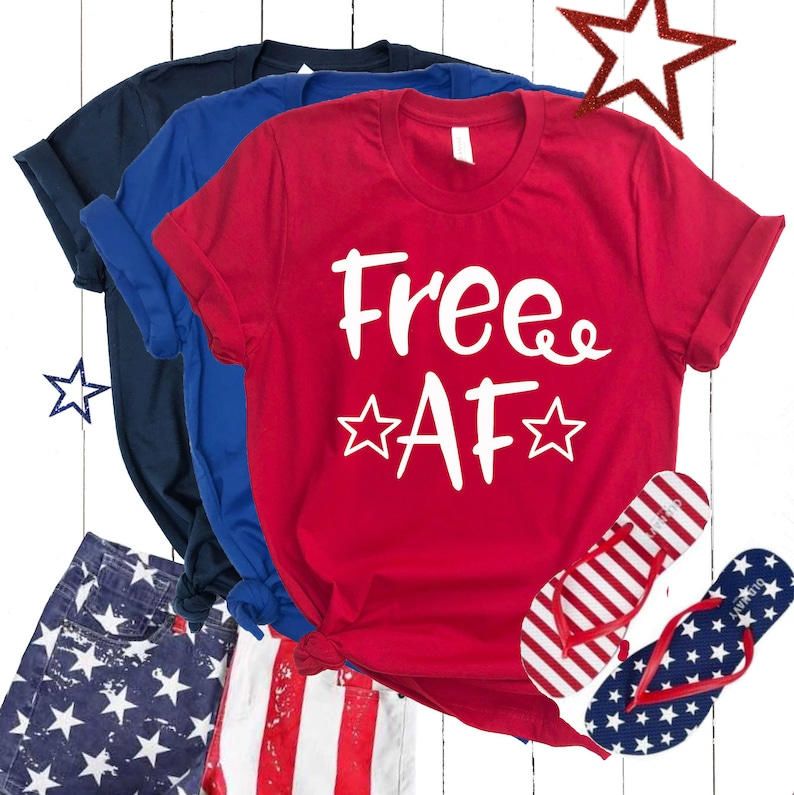 152071c8 Free AF Funny 4th of July Shirt USA Tee Shirt Freedom | Etsy